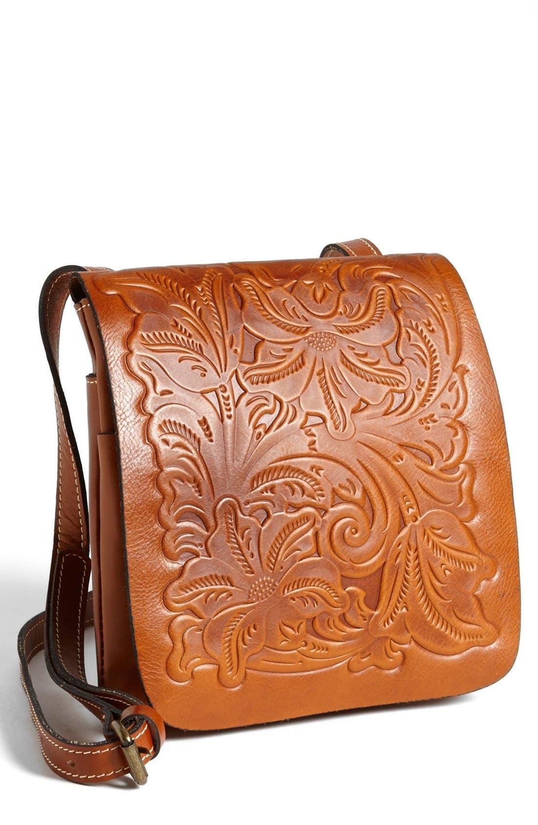 Alternate Image 1 Selected - Patricia Nash 'Granada' Embossed Leather Crossbody Bag