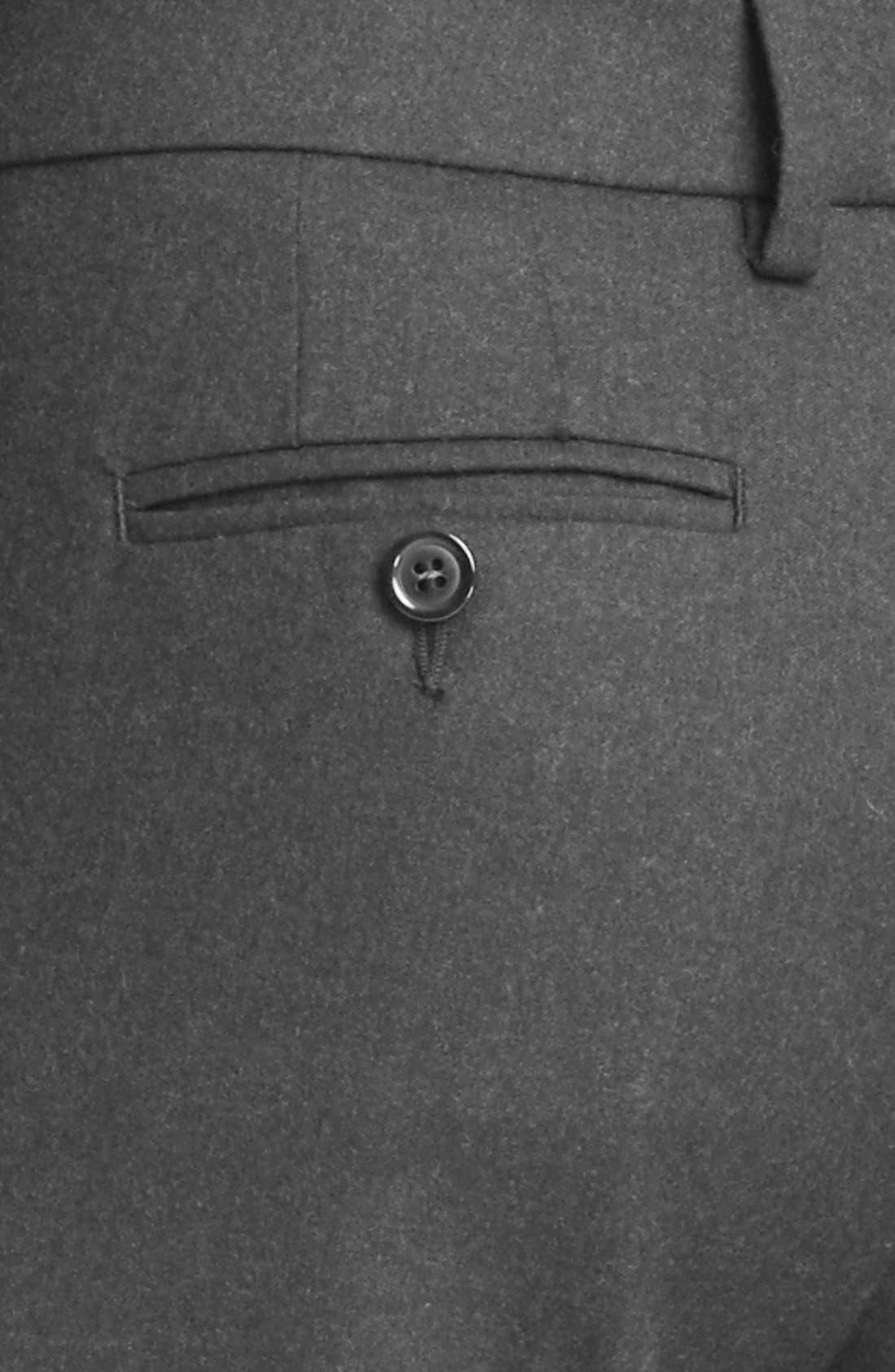 Alternate Image 2  - Armani Collezioni Slim Stretch Flannel Crop Pants