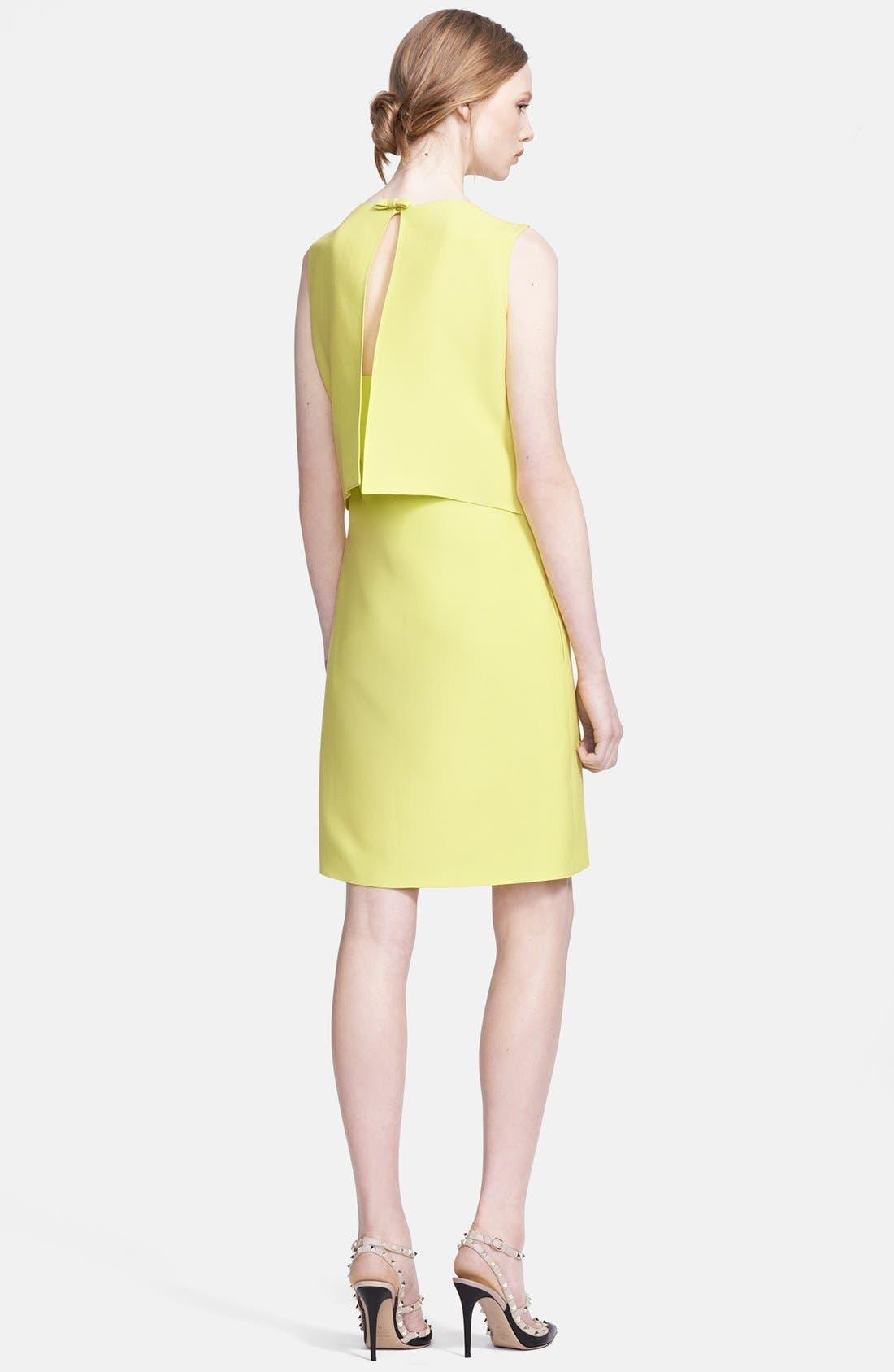 Alternate Image 2  - Valentino Bow Detail Crepe Dress