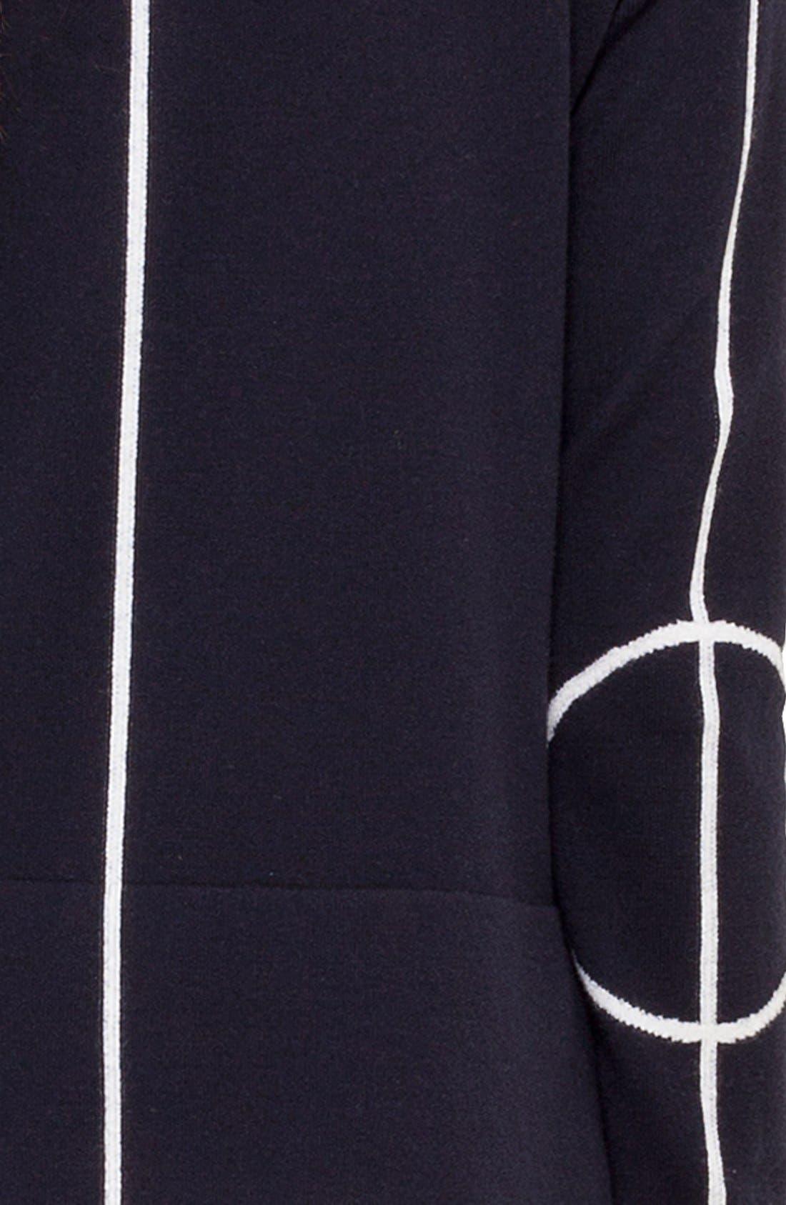 Alternate Image 3  - Akris punto Grid Stripe Crop Sweater