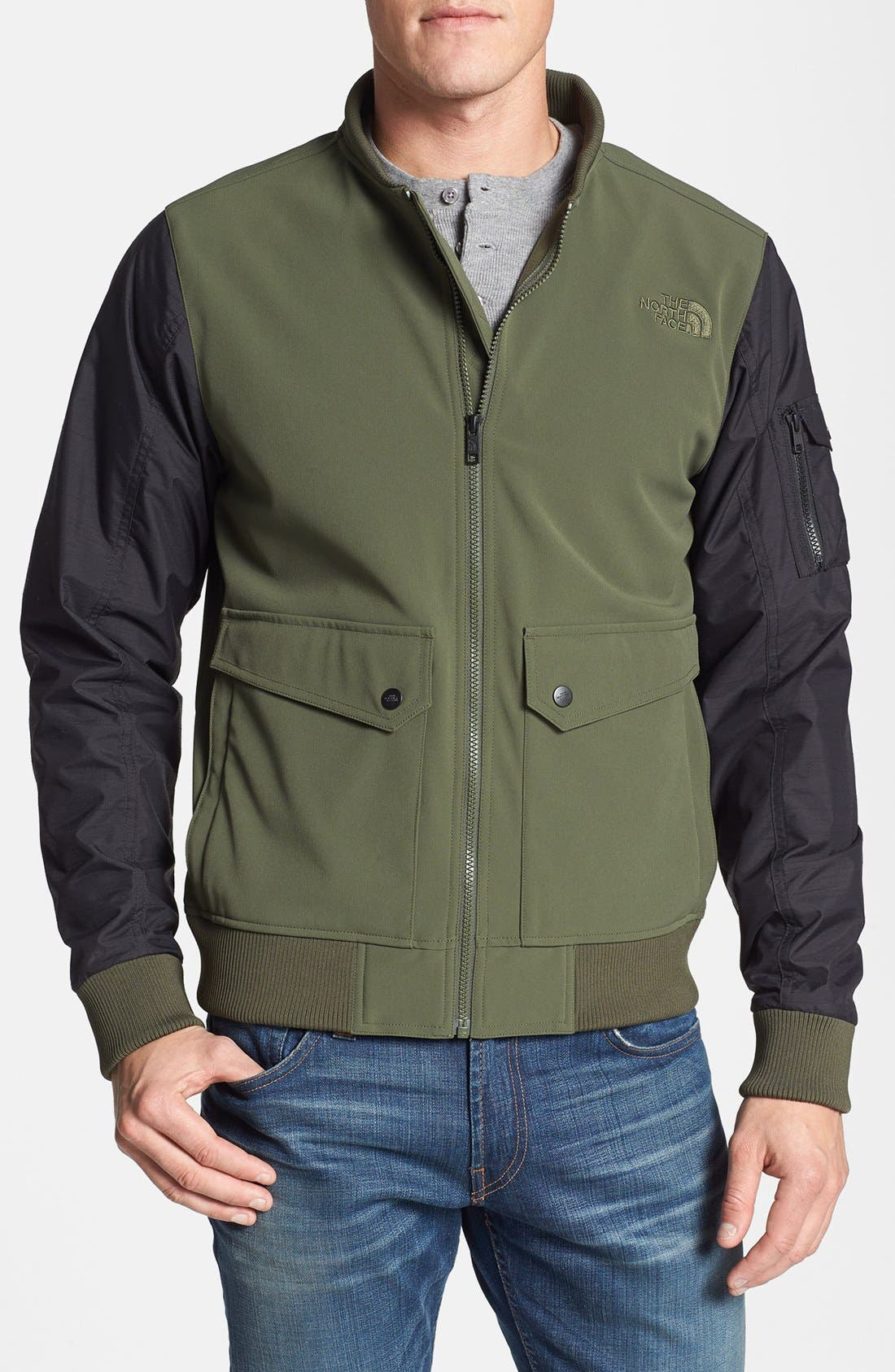 Alternate Image 1 Selected - The North Face 'Amos' Waterproof Bomber Jacket