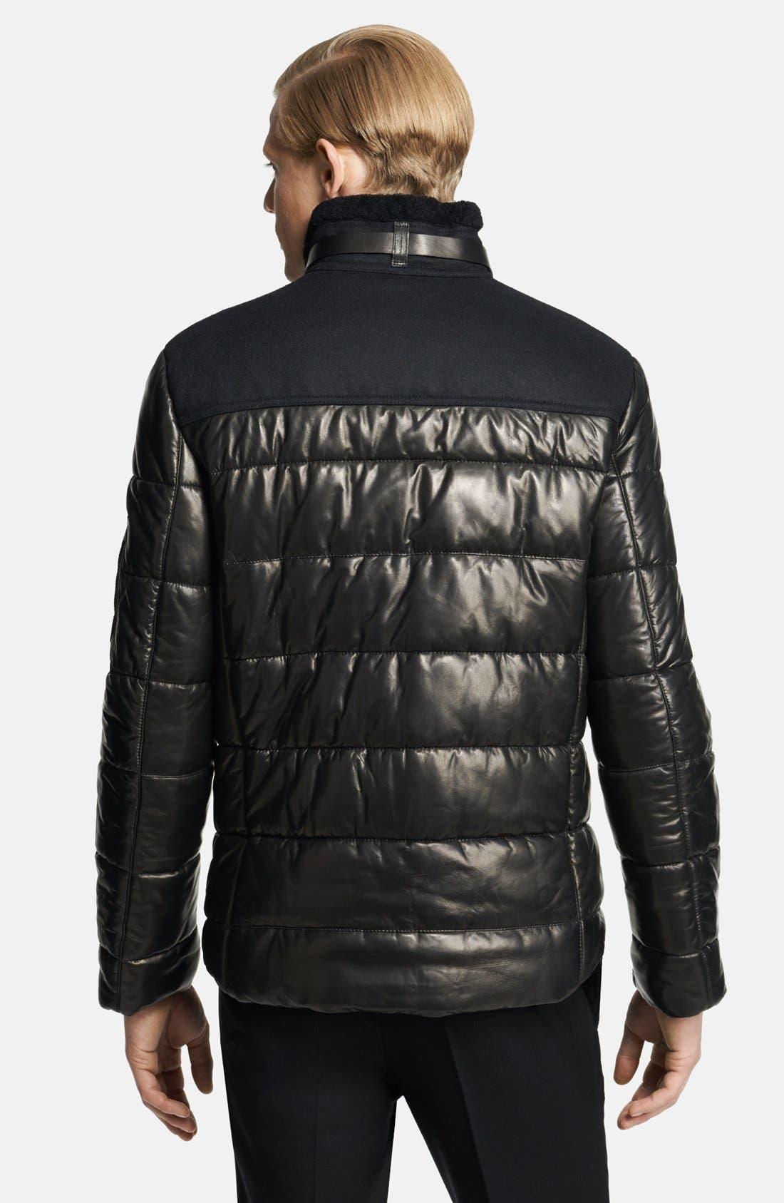 Alternate Image 2  - Neil Barrett Leather Puffer Jacket