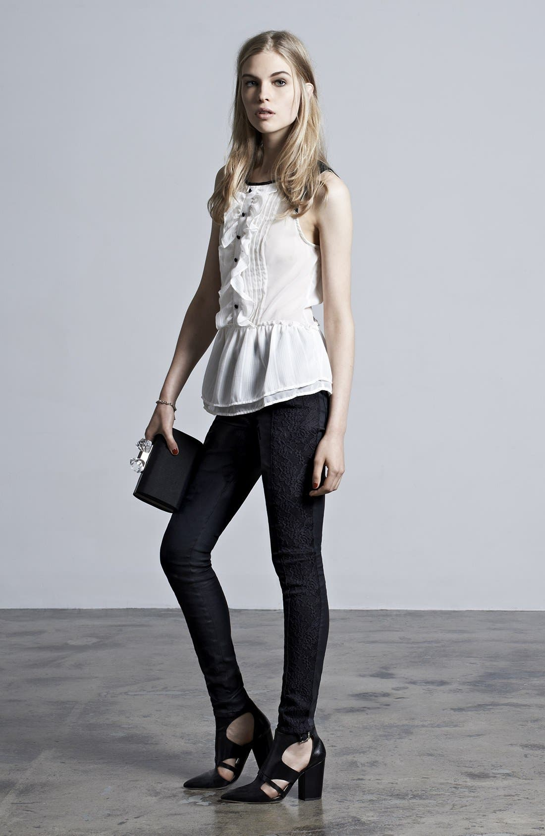 Alternate Image 1 Selected - Free People Top & 7 For All Mankind® Skinny Jeans