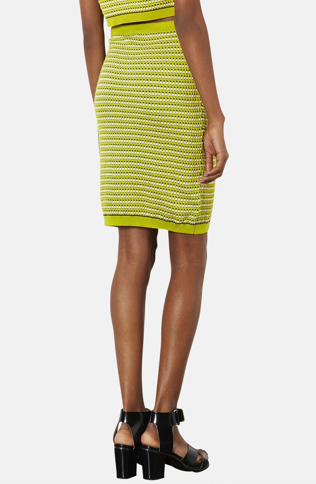 Alternate Image 2  - Topshop 'Geo' Knit Pencil Skirt