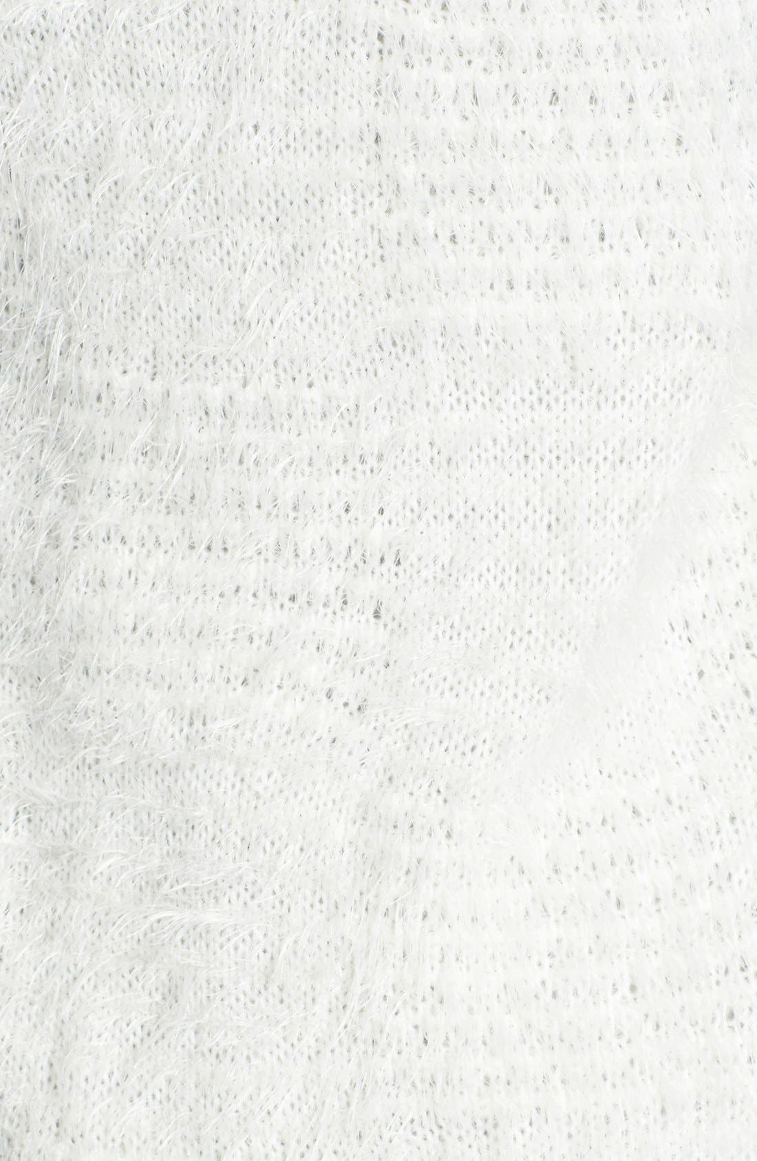 Textured Cardigan,                             Alternate thumbnail 3, color,                             Ivory