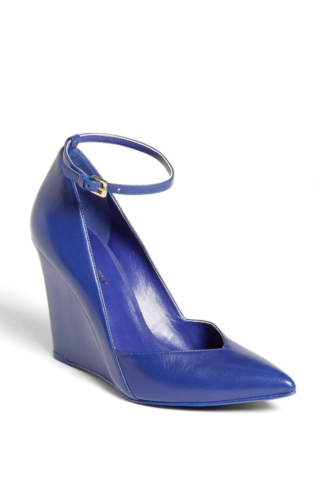 Alternate Image 1 Selected - Nine West 'Eviee' Leather Wedge Pump