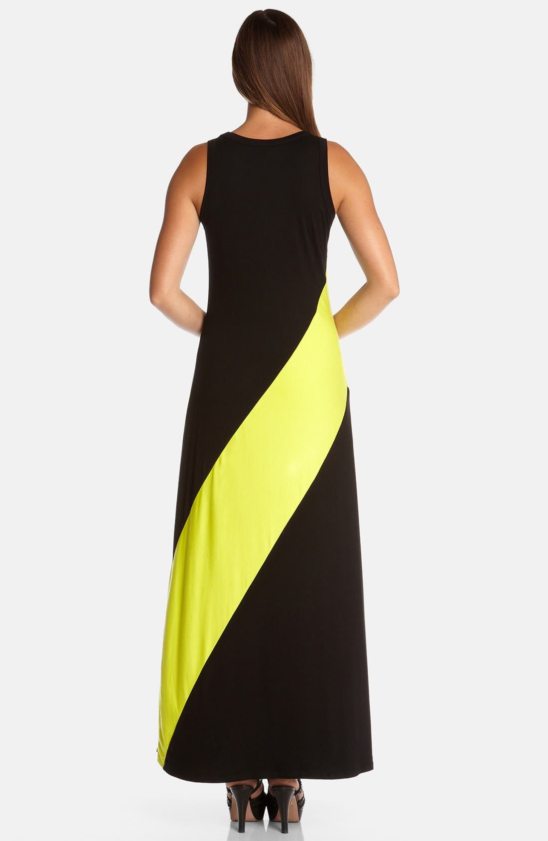 Alternate Image 2  - Karen Kane Diagonal Stripe Maxi Dress
