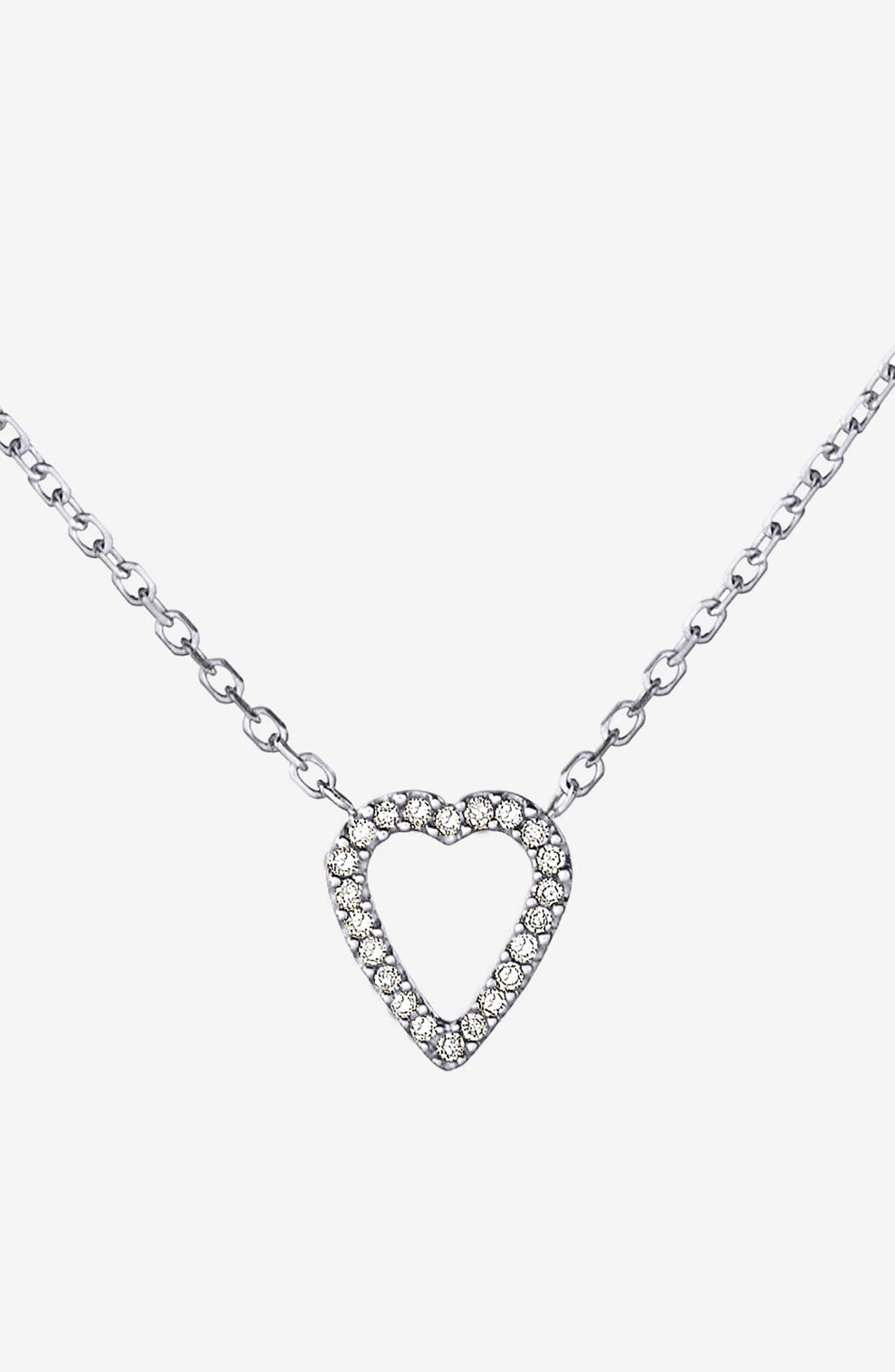 Main Image - Adina Reyter Pavé Diamond Heart Pendant Necklace (Online Only)