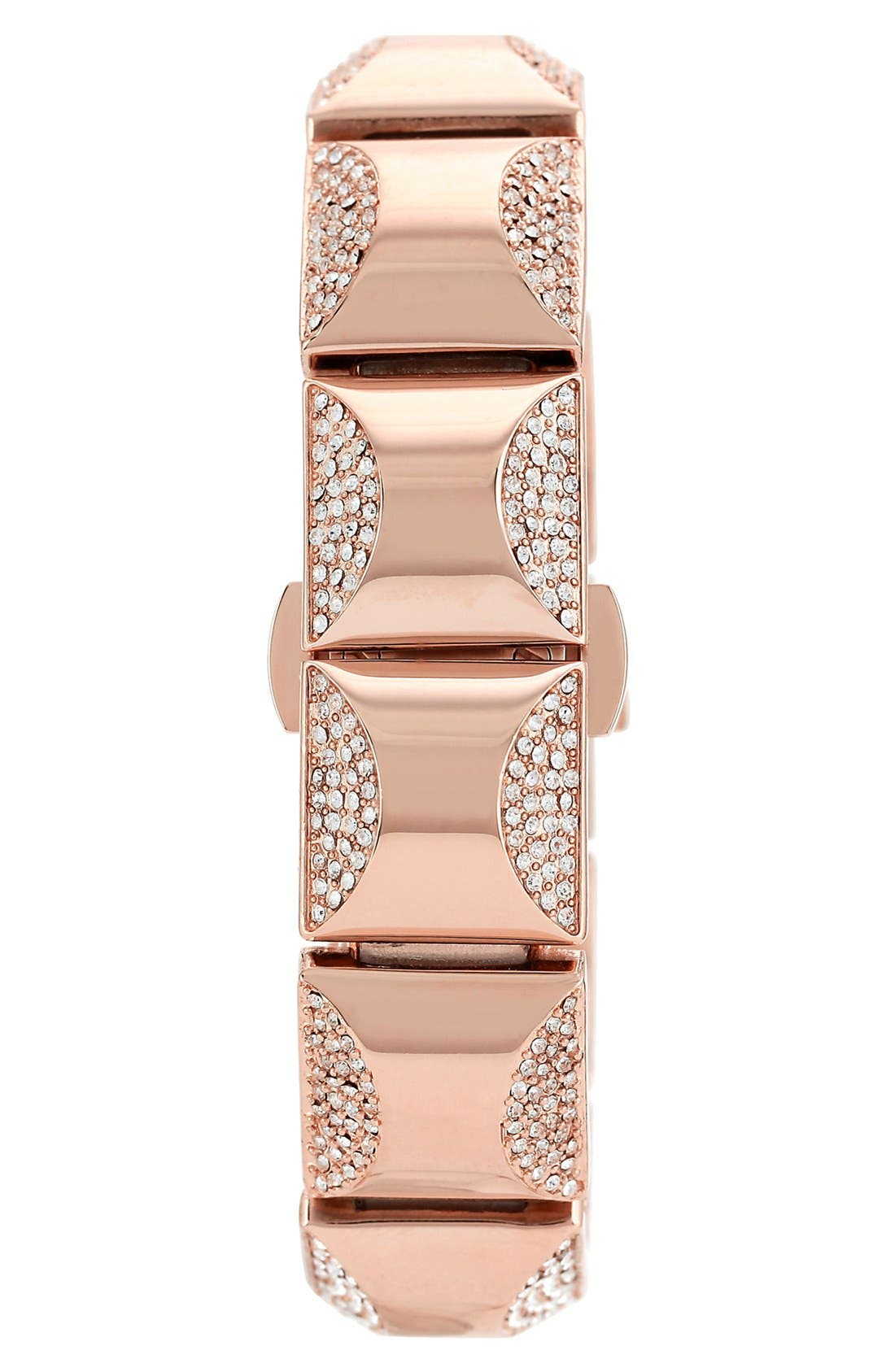 Alternate Image 3  - Vince Camuto Covered Case Crystal Accent Bracelet Watch
