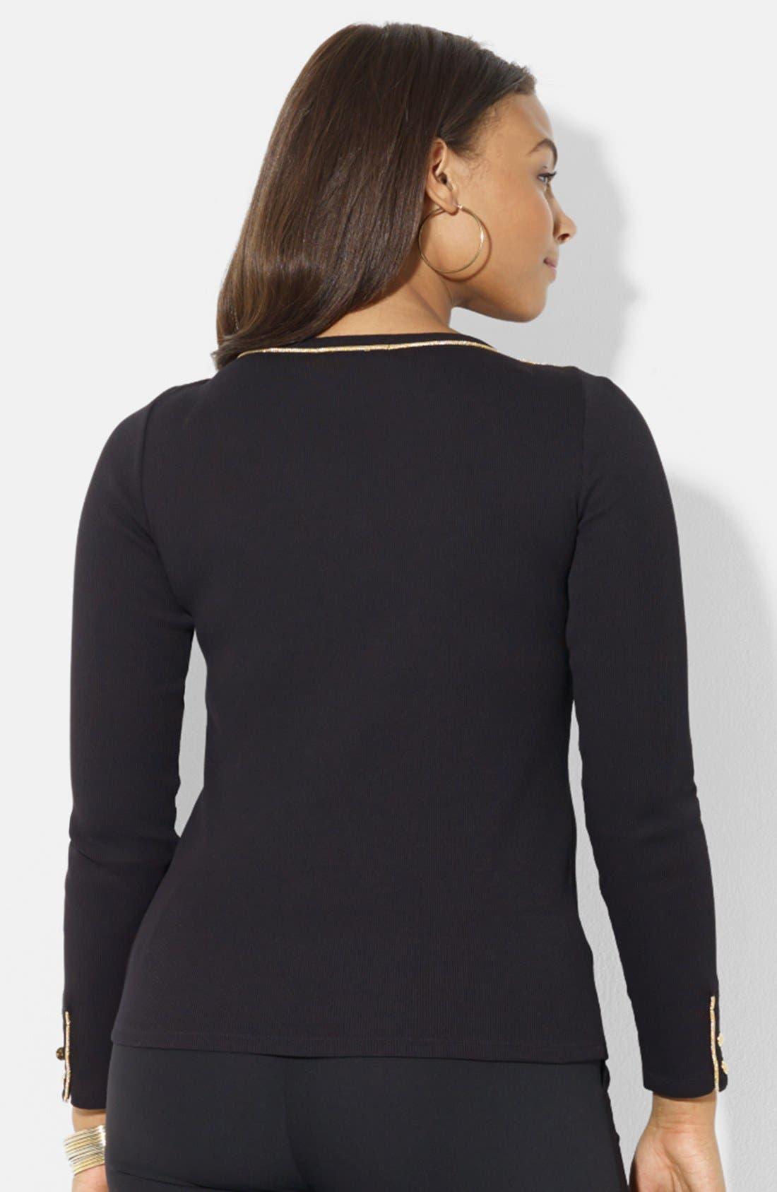 Alternate Image 2  - Lauren Ralph Lauren Cotton Top (Plus Size)