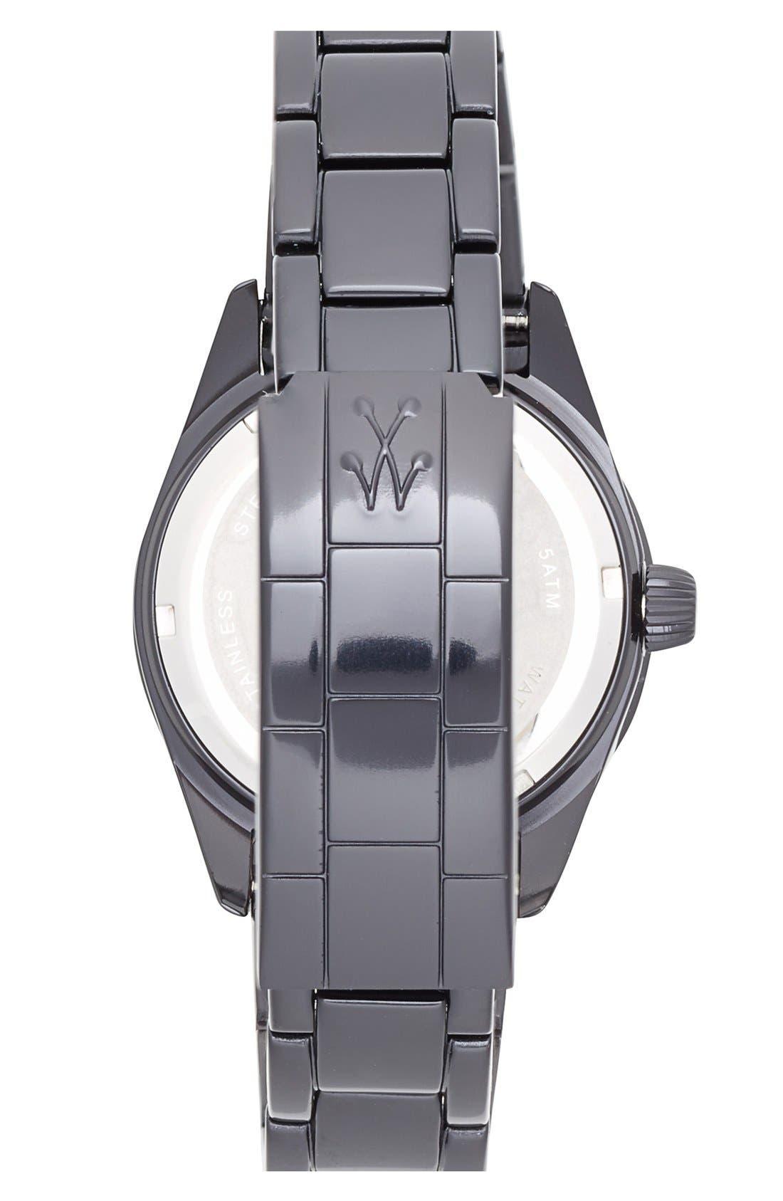 Alternate Image 2  - TOYWATCH 'Metallic Stones' Pavé Dial Bracelet Watch, 35mm