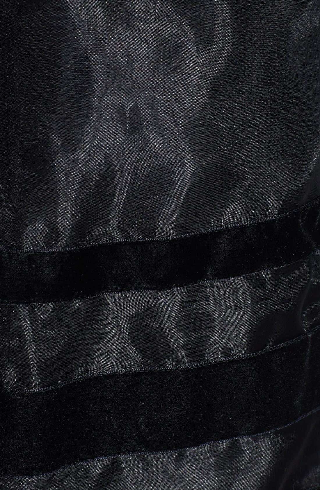 Alternate Image 3  - Halogen® Velvet Stripe Organza Skirt (Regular & Petite Focus)