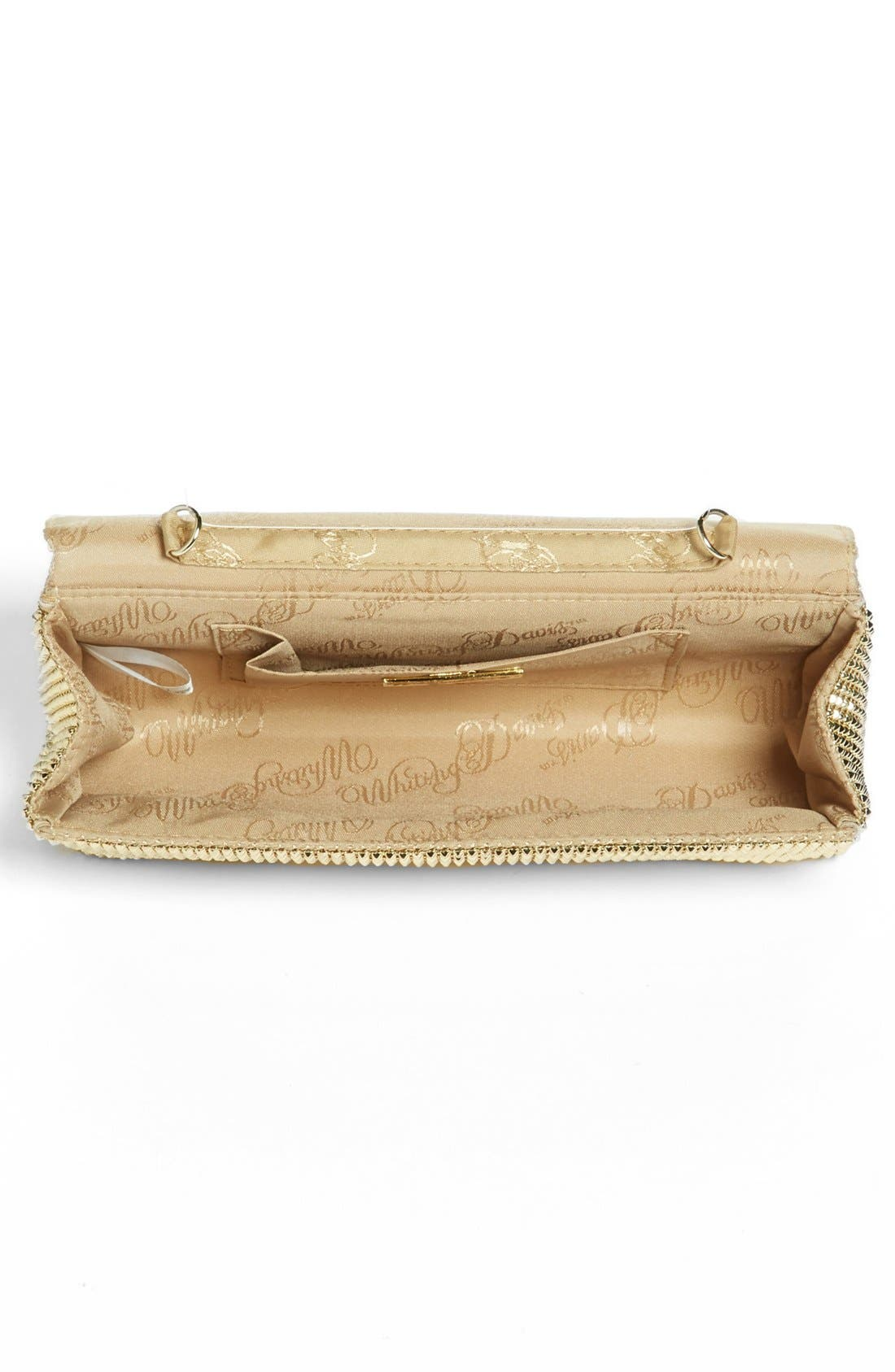 'Pyramid' Mesh Clutch,                             Alternate thumbnail 3, color,                             Gold