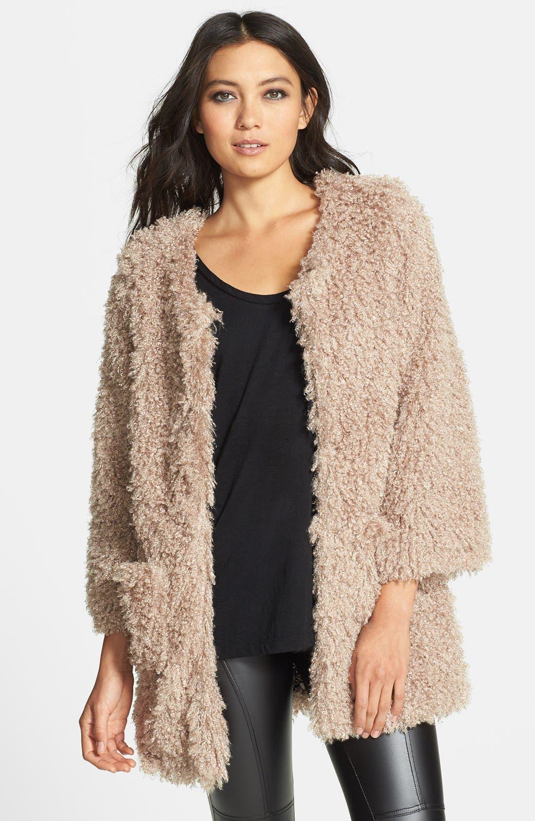 Main Image - Lark Faux Fur Swing Coat