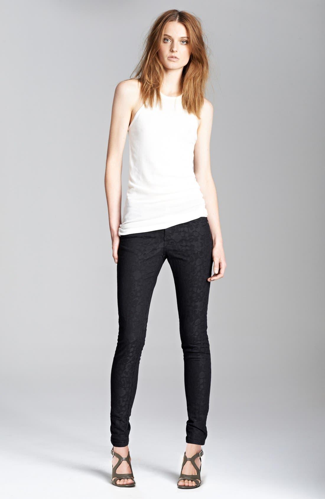 Alternate Image 4  - Stella McCartney 'Lina' Leopard Jacquard Skinny Jeans