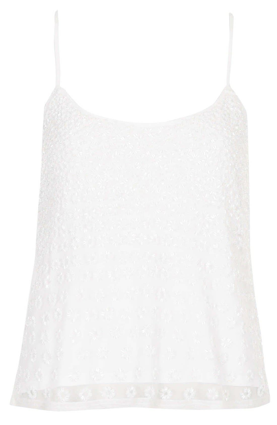 Alternate Image 3  - Topshop Beaded Cutout Camisole