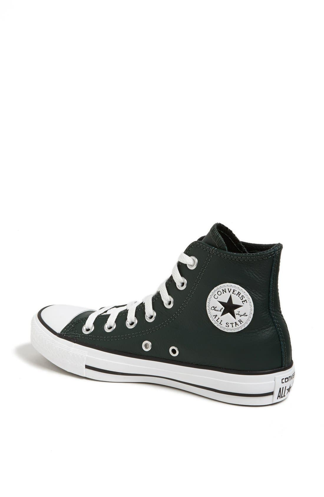 Alternate Image 2  - Converse Chuck Taylor® All Star® Leather High Top Sneaker (Women)