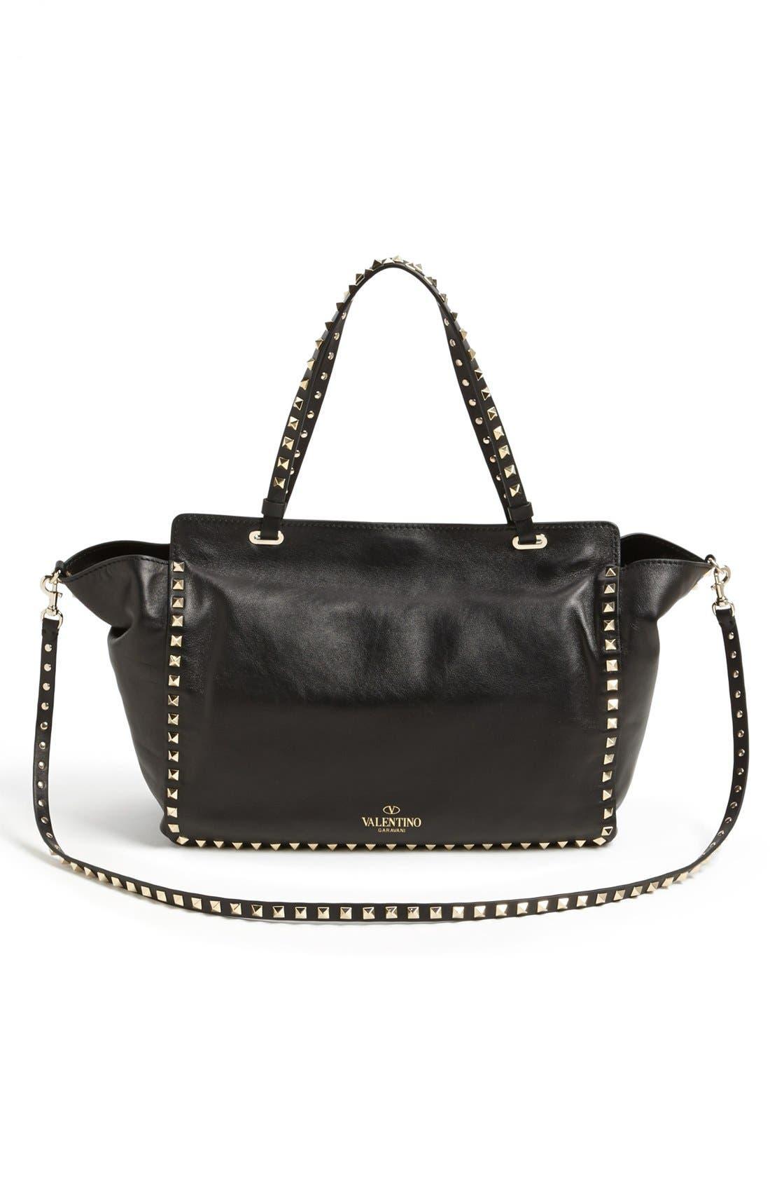 Alternate Image 4  - Valentino 'Medium Rockstud' Double Handle Leather Tote