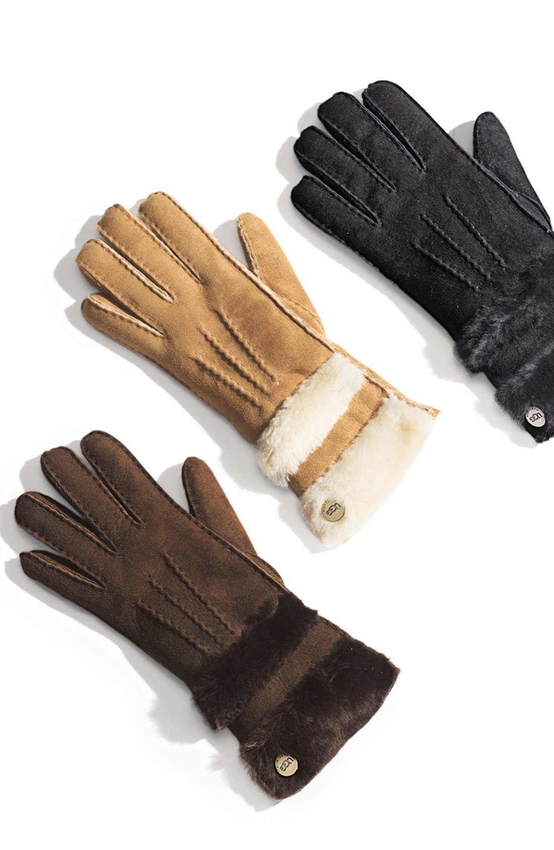 Alternate Image 2  - UGG® Australia 'Classic' Genuine Shearling Gloves