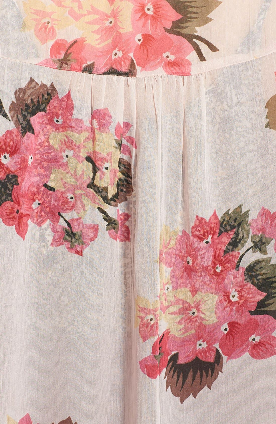 Alternate Image 3  - Band of Gypsies Sheer Print Kimono (Juniors)