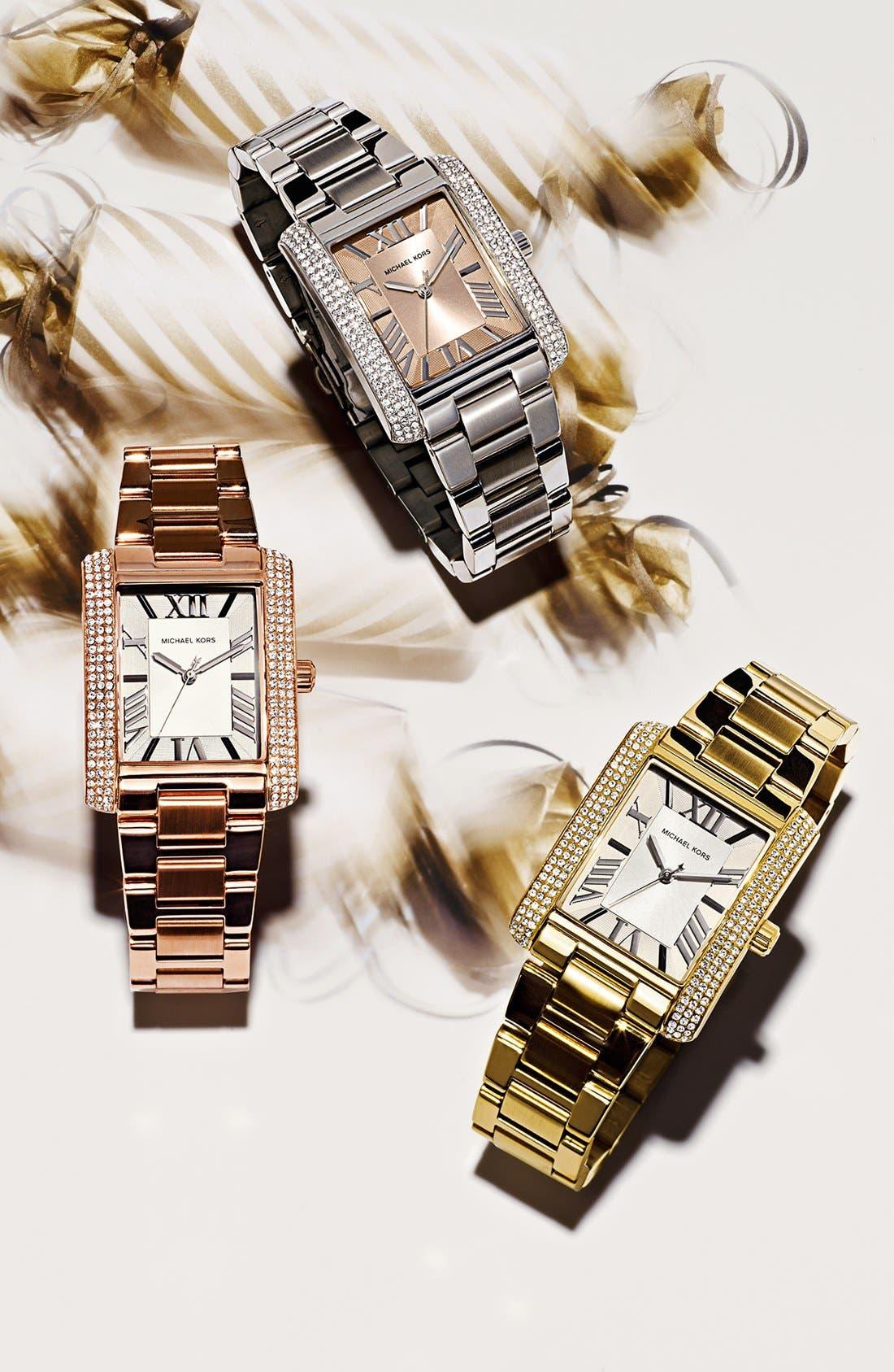 Alternate Image 3  - Michael Kors 'Emery' Crystal Accent Bracelet Watch, 31mm x 40mm