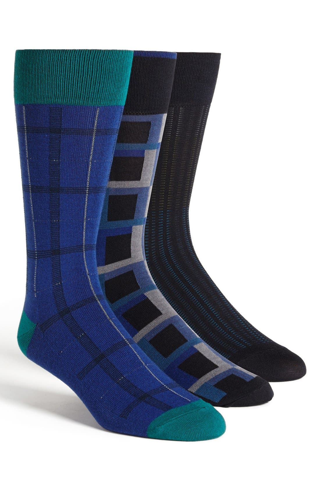 Main Image - Vince Camuto Mixed Pattern Socks (Assorted 3-Pack)