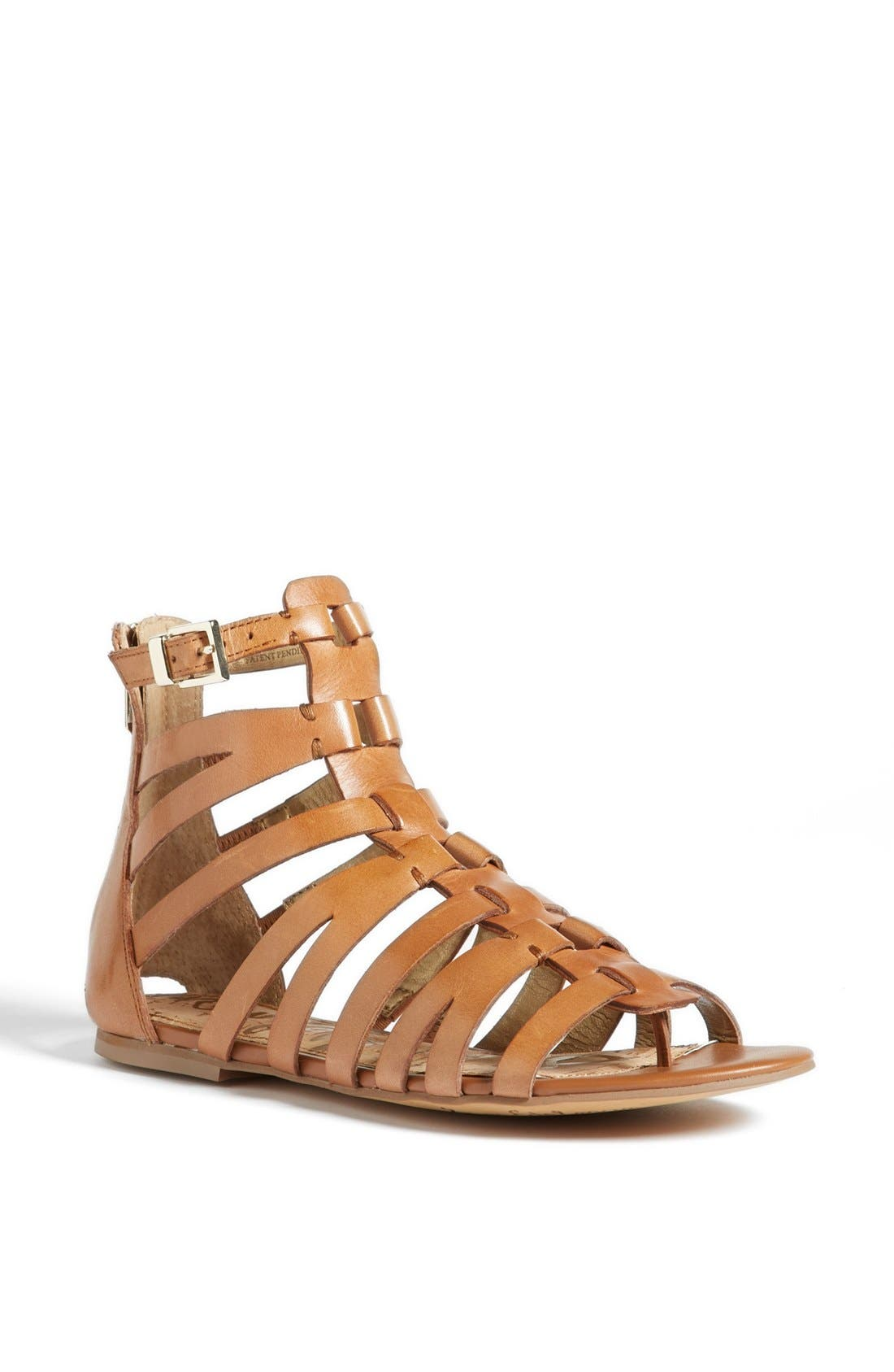 'Beck' Sandal,                             Main thumbnail 1, color,                             Saddle Leather
