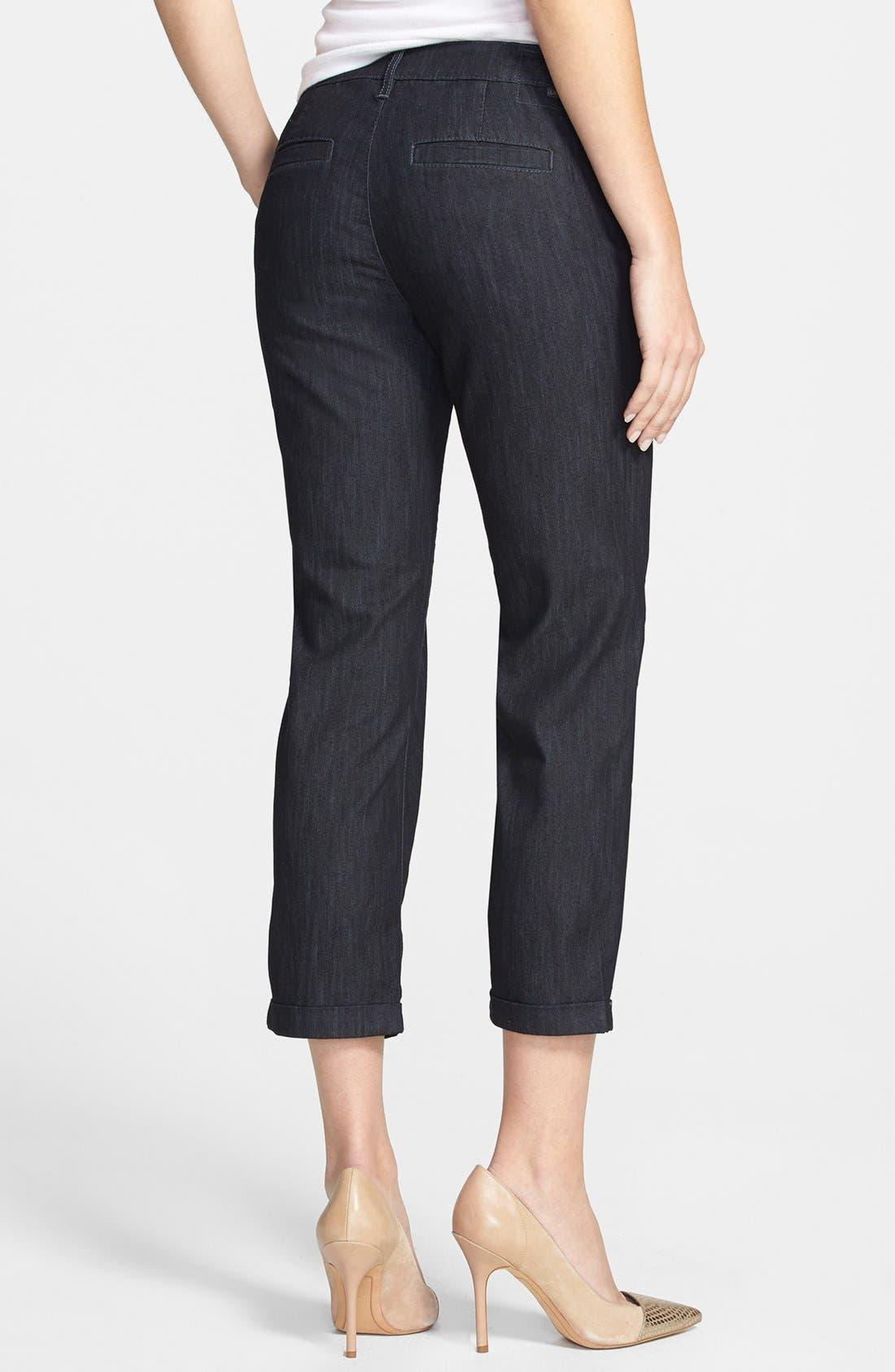 Alternate Image 2  - Jag Jeans 'Cora' Stretch Crop Slim Leg Jeans (Dark Storm)