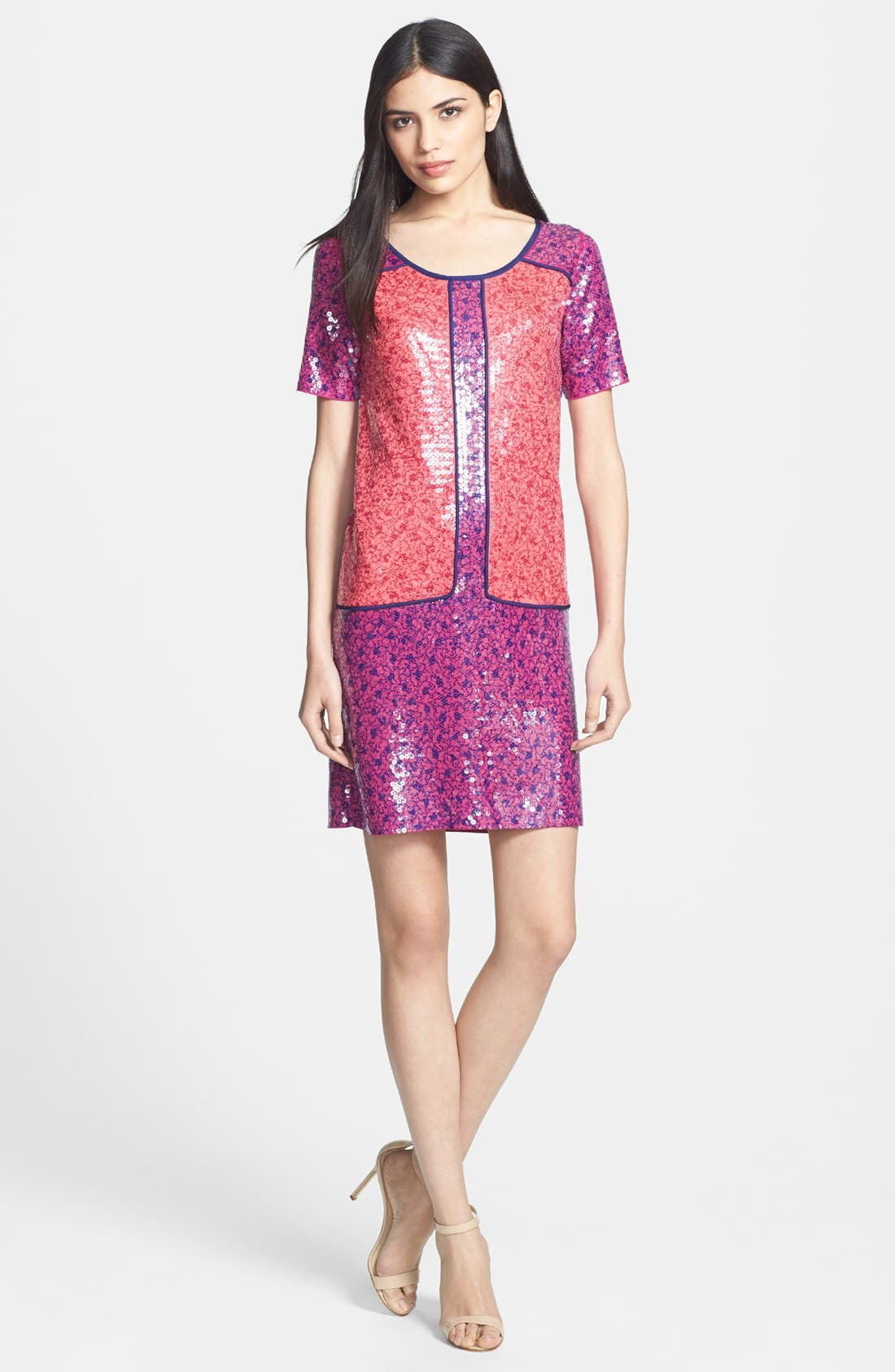 Main Image - MARC BY MARC JACOBS 'Viola' Sequin Jersey Shift Dress