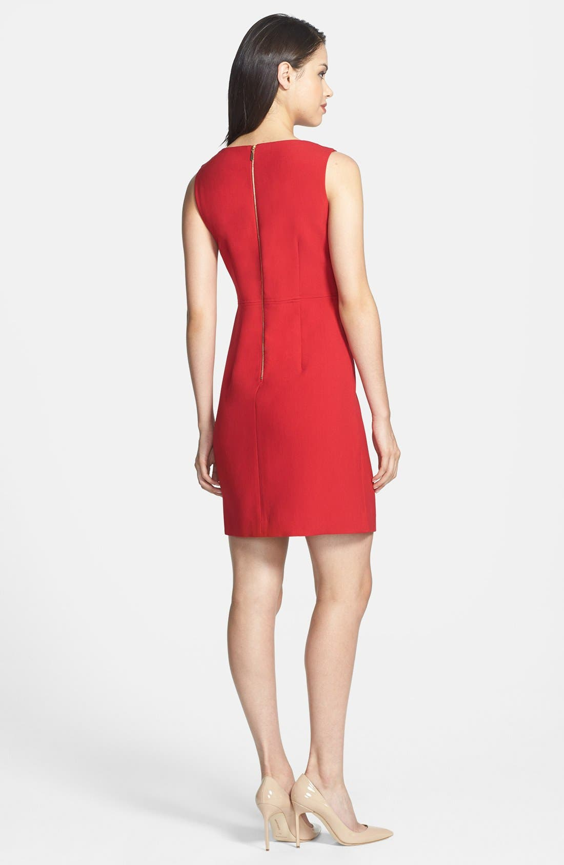 Alternate Image 2  - Laundry by Shelli Segal Seamed Crepe Sheath Dress