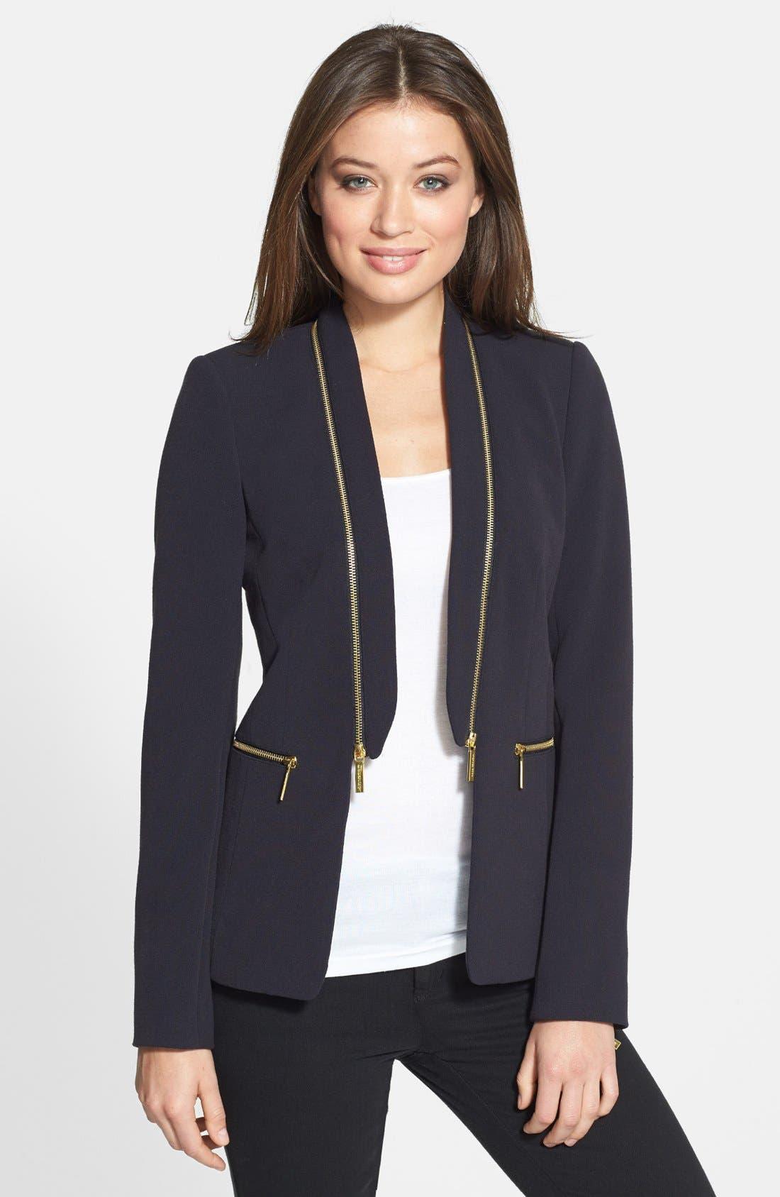 Alternate Image 1 Selected - MICHAEL Michael Kors Zip Detail Jacket