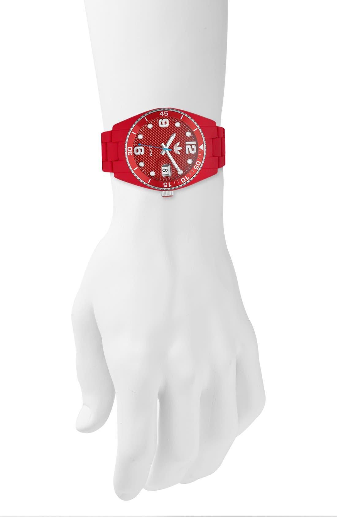 Alternate Image 4  - adidas Originals 'Brisbane' Silicone Bracelet Watch, 42mm
