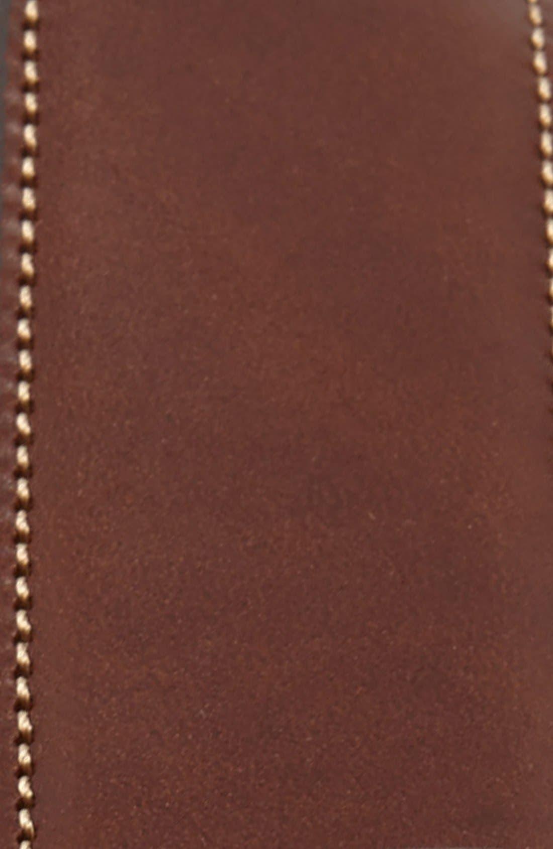 'Easton' Calfskin Belt,                             Alternate thumbnail 2, color,                             Honey