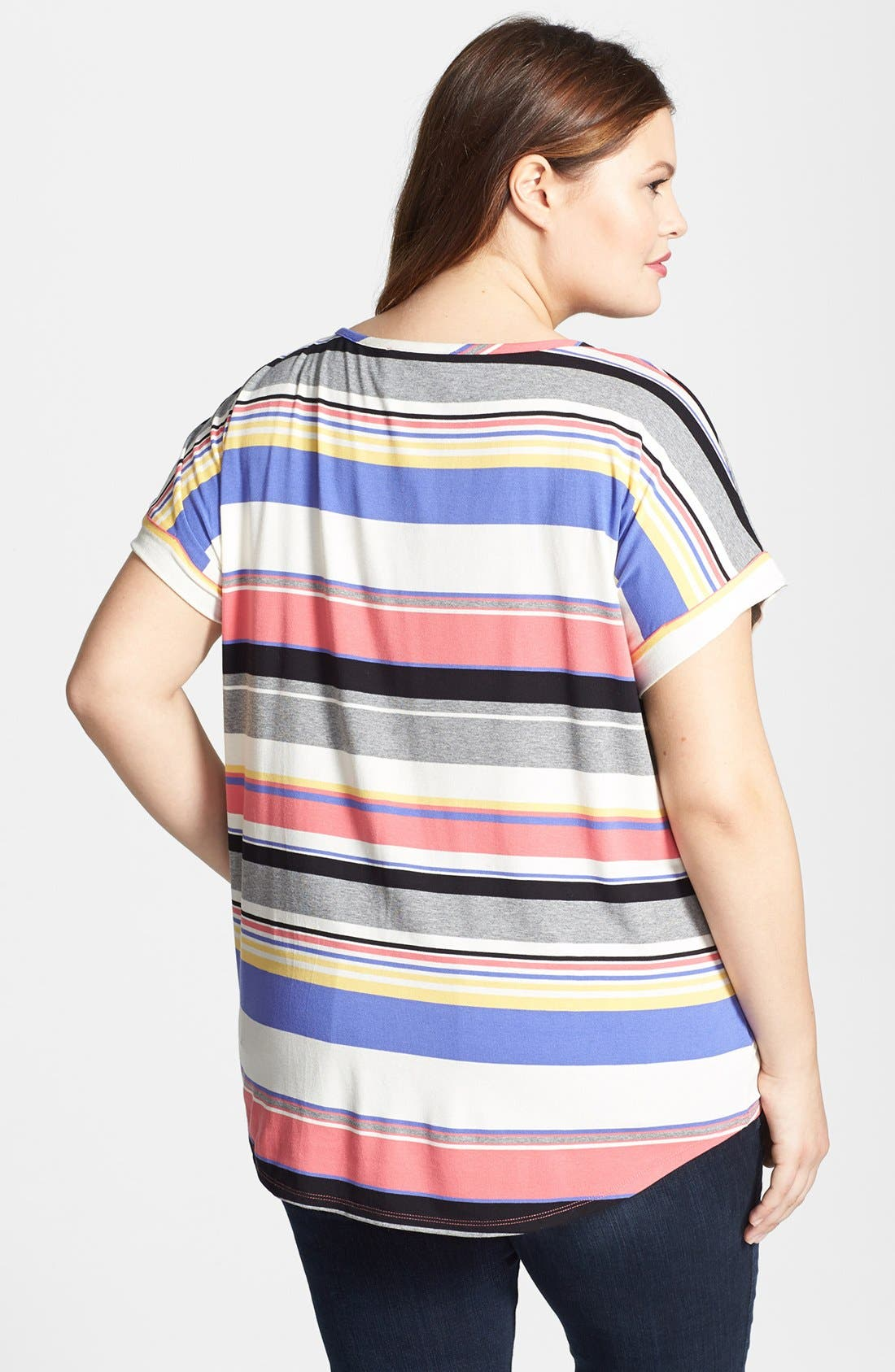 Alternate Image 2  - Two by Vince Camuto Stripe Tee (Plus Size)