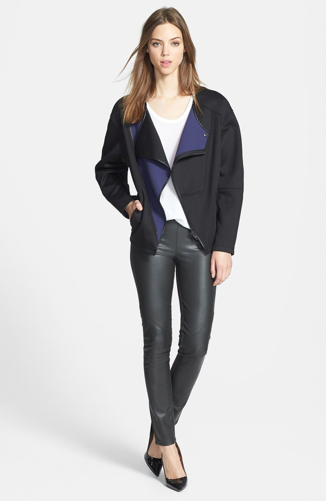 Alternate Image 2  - Trouvé Colorblock Collarless Jacket