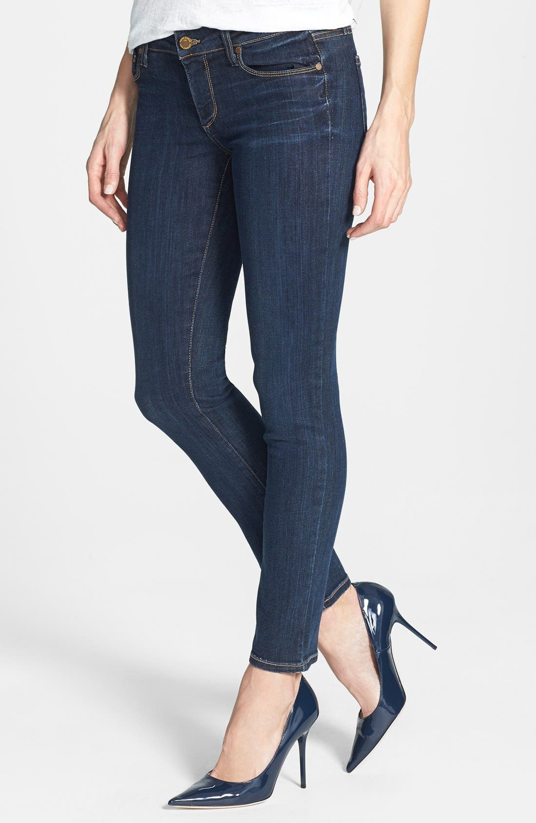 Main Image - Paige Denim 'Skyline' Skinny Ankle Jeans (Delancy)