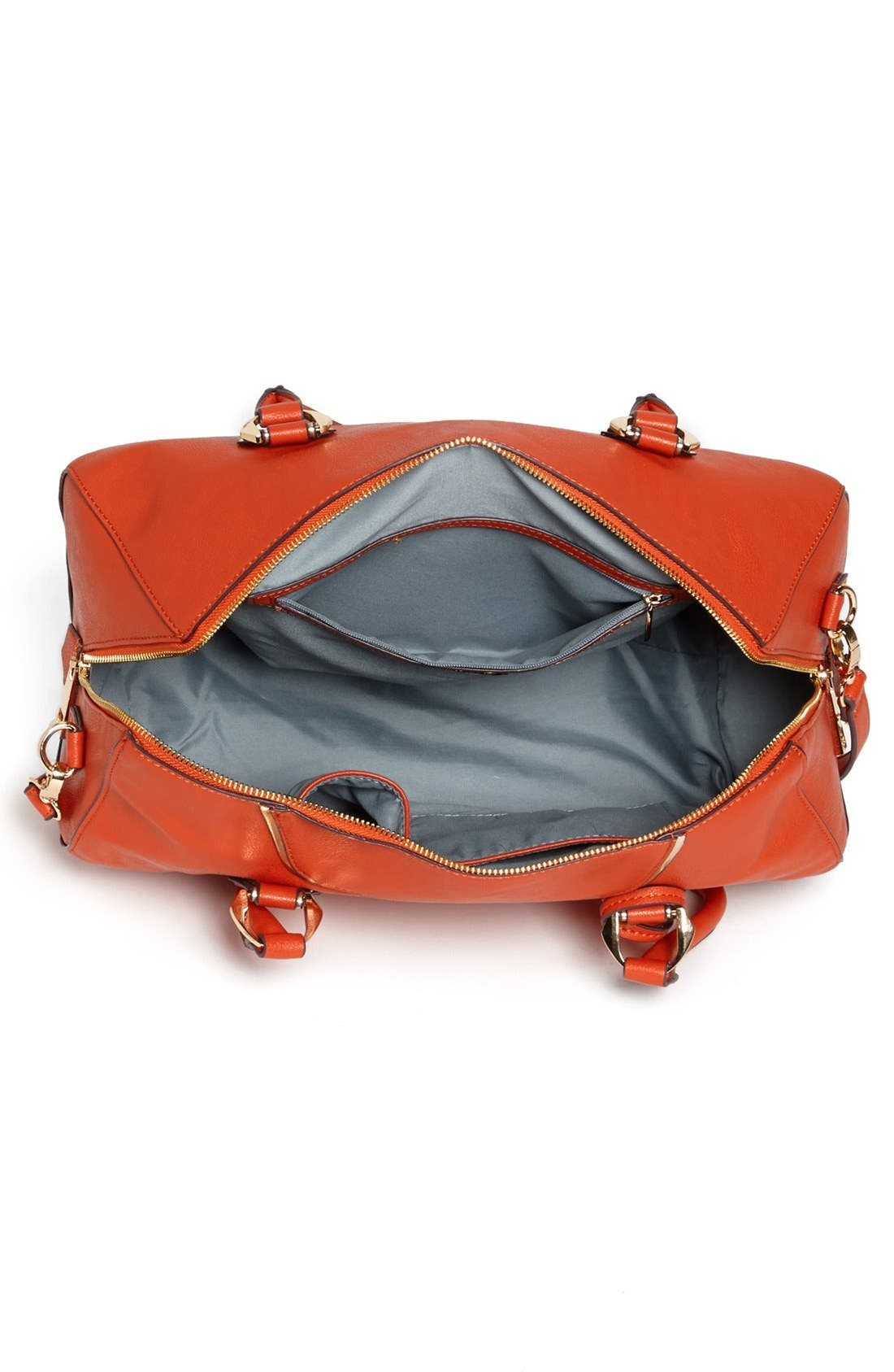 Alternate Image 3  - POVERTY FLATS by rian Faux Leather Satchel
