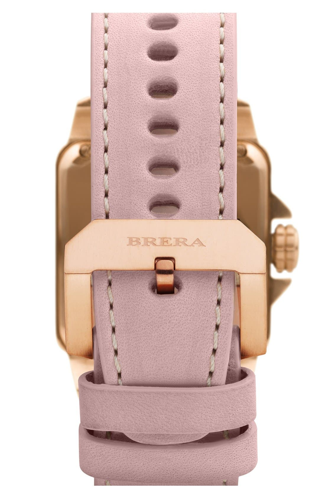 Alternate Image 2  - STELLA SQUARE DIAMOND WATCH W/ LEATHER STRAP