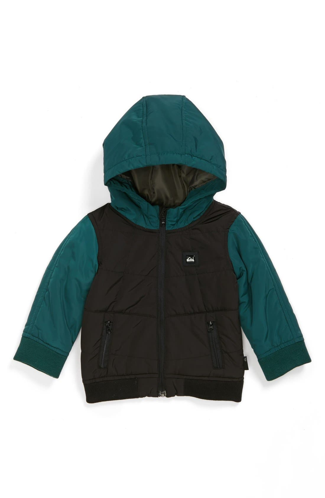 Main Image - Quiksilver 'Marquette' Water Resistant Quilted Jacket (Toddler Boys)