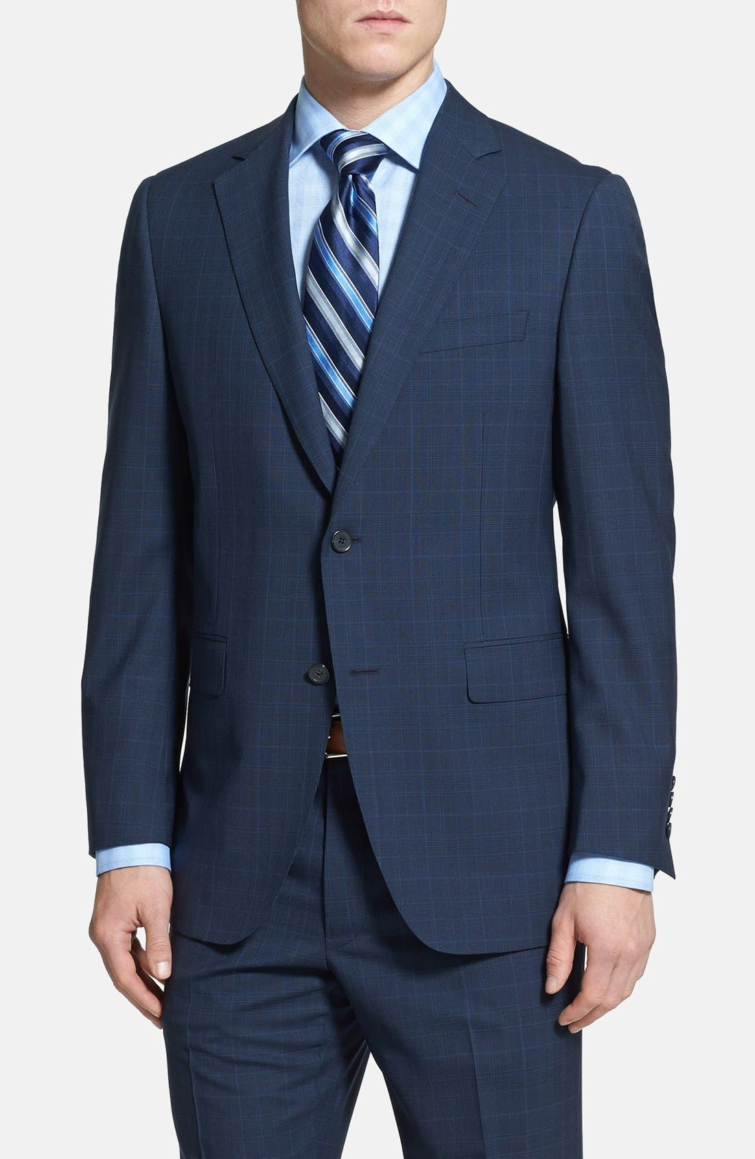 Alternate Image 3  - Samuelsohn Classic Fit Plaid Suit