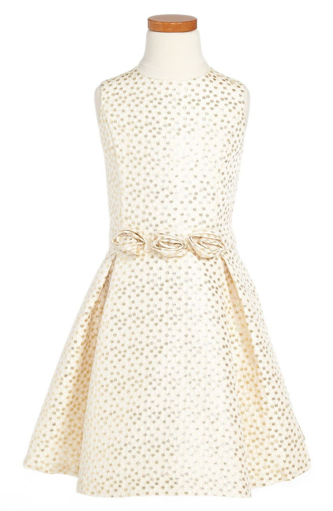 Alternate Image 1 Selected - ABS by Allen Schwartz Sleeveless Box Pleat Dress (Big Girls)