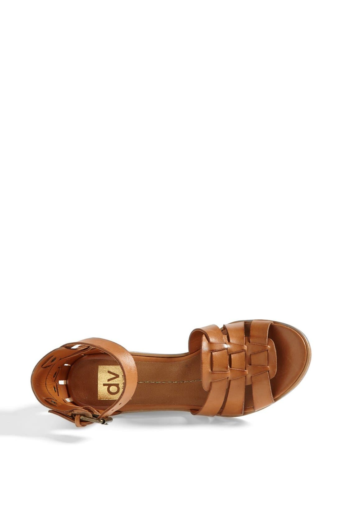 DV by Dolce Vita 'Cho' Wedge Sandal,                             Alternate thumbnail 3, color,                             Honey Leather