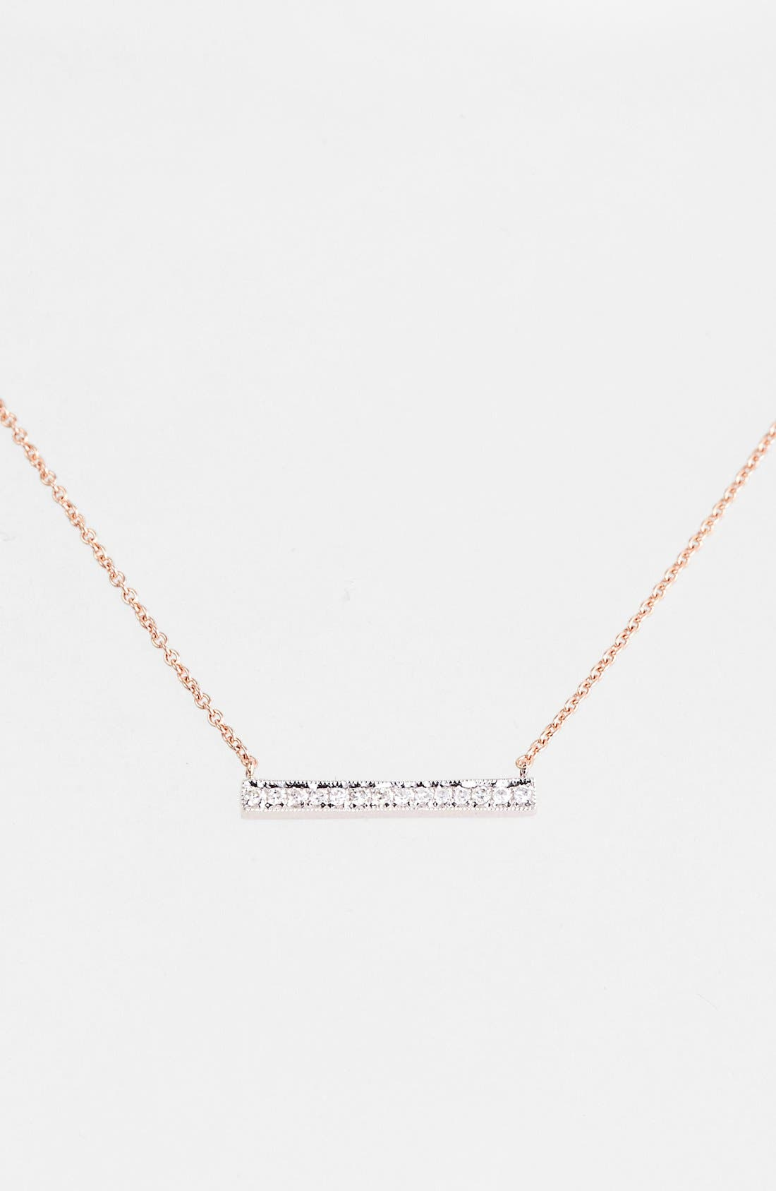 Dana Rebecca Designs 'Sylvie Rose' Medium Diamond Bar Pendant Necklace