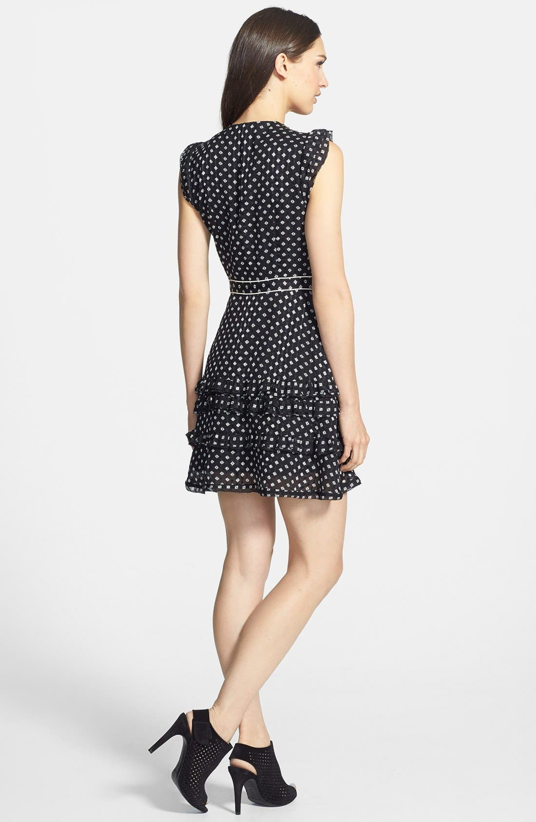Alternate Image 2  - MARC BY MARC JACOBS 'Mini Diamond' Crinkle Silk A-Line Dress