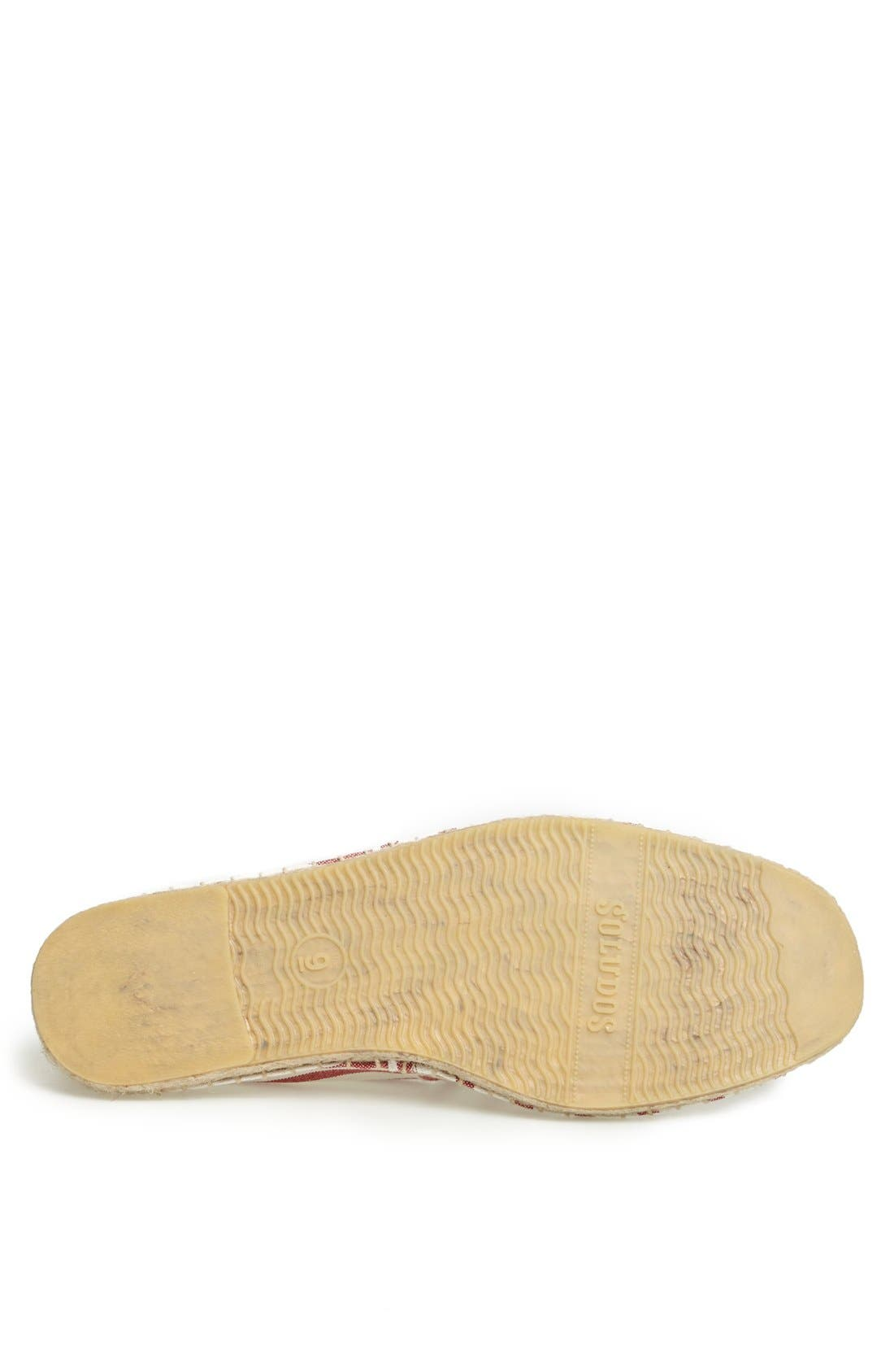 Alternate Image 4  - Soludos Breton Stripe Espadrille Slip-On (Men)