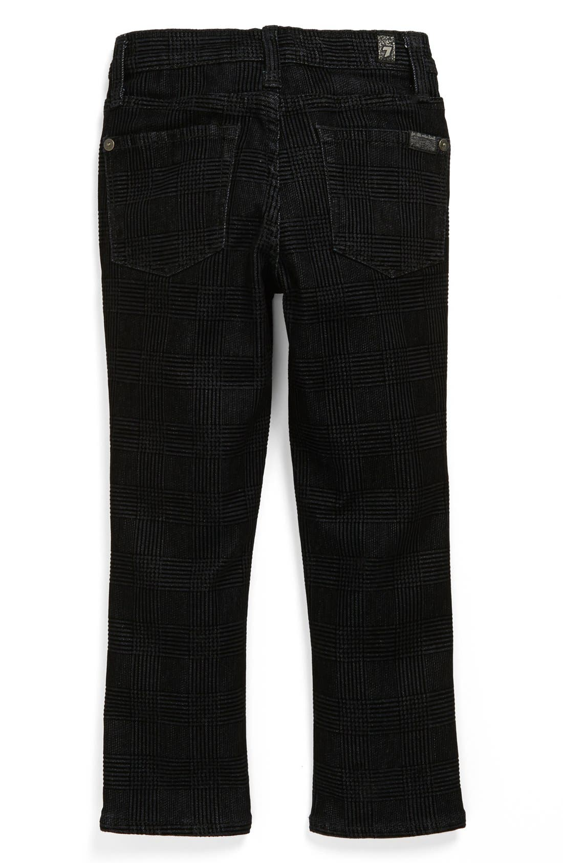 Alternate Image 1 Selected - 7 For All Mankind® 'Slimmy' Flocked Slim Fit Jeans (Toddler Boys)