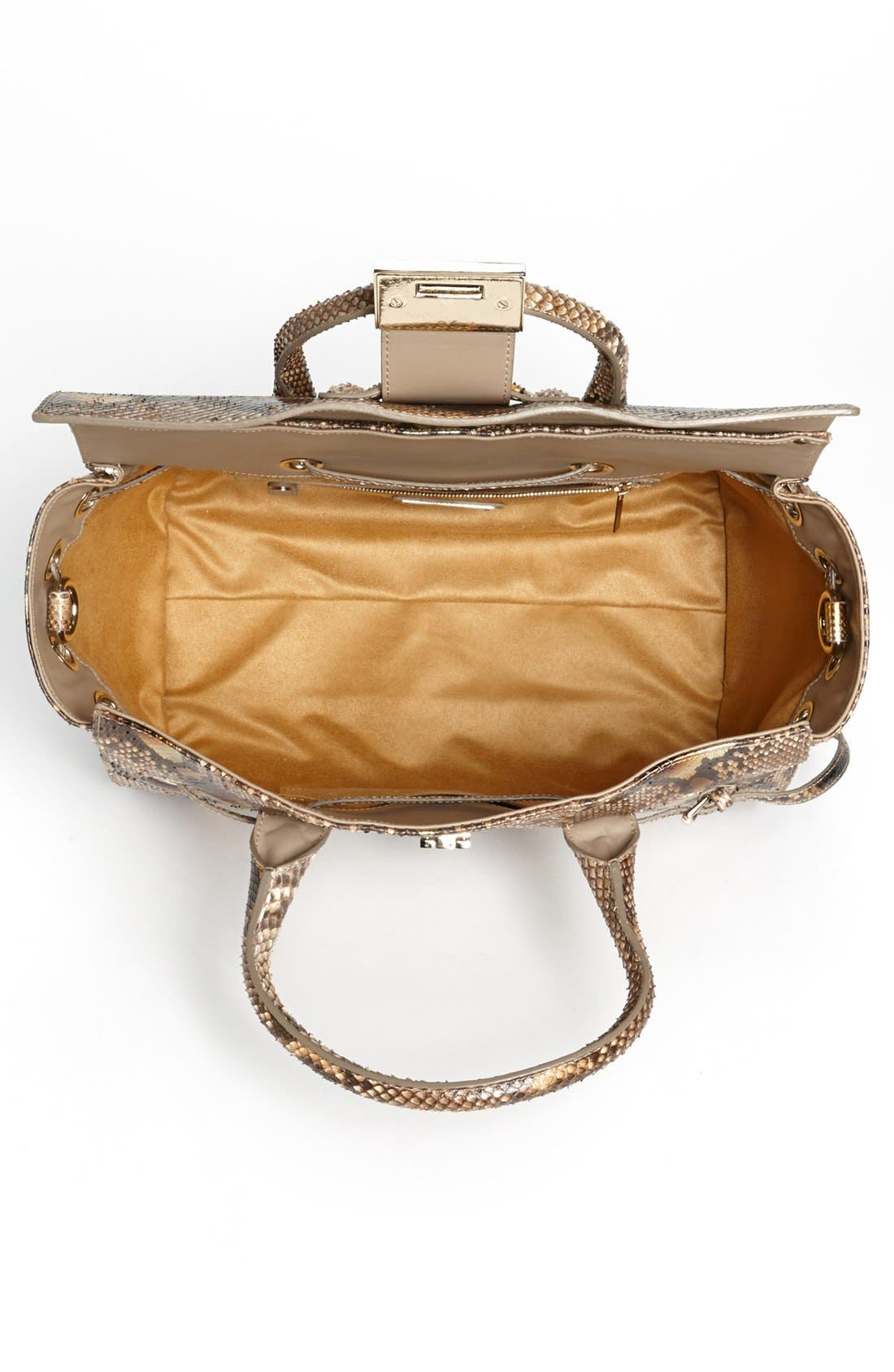Alternate Image 3  - Jimmy Choo 'Rosa' Metallic Dégradé Genuine Python Satchel