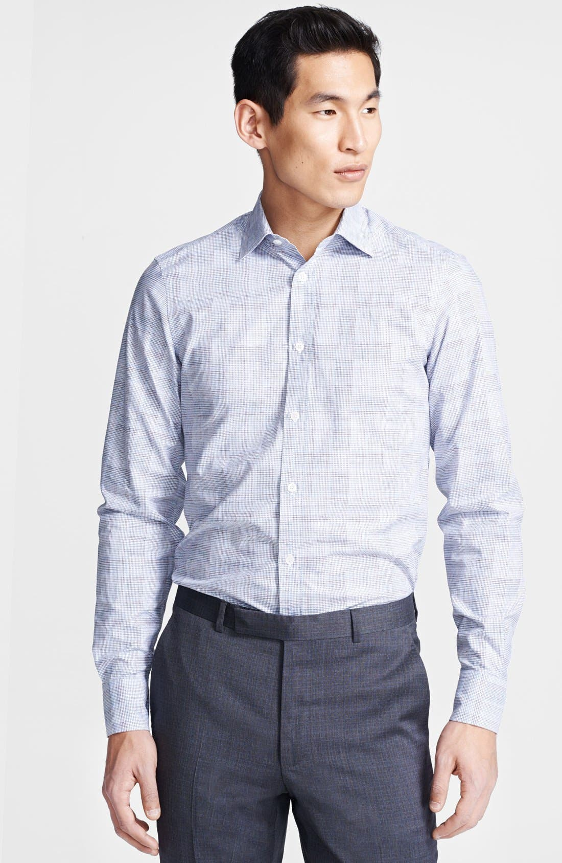 Main Image - Z Zegna Tonal Check Sport Shirt