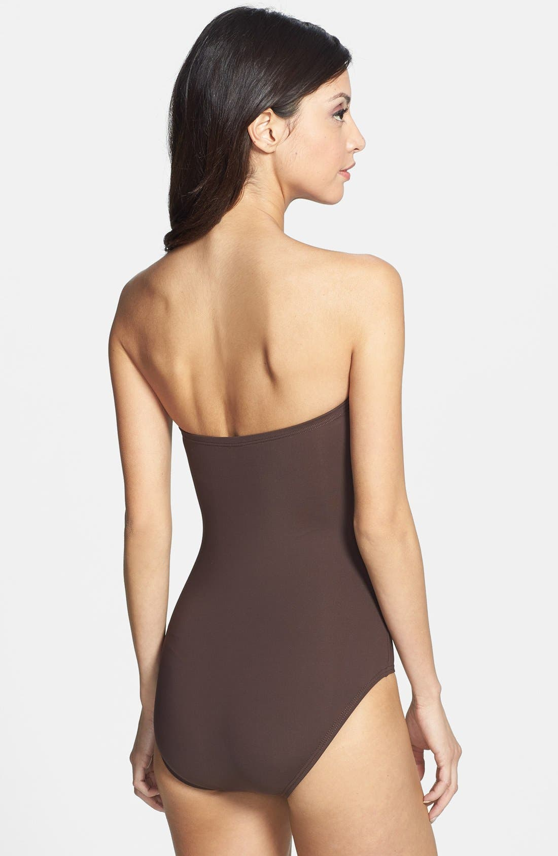 Alternate Image 2  - MICHAEL Michael Kors 'Tunisia' Strapless Shirred Maillot