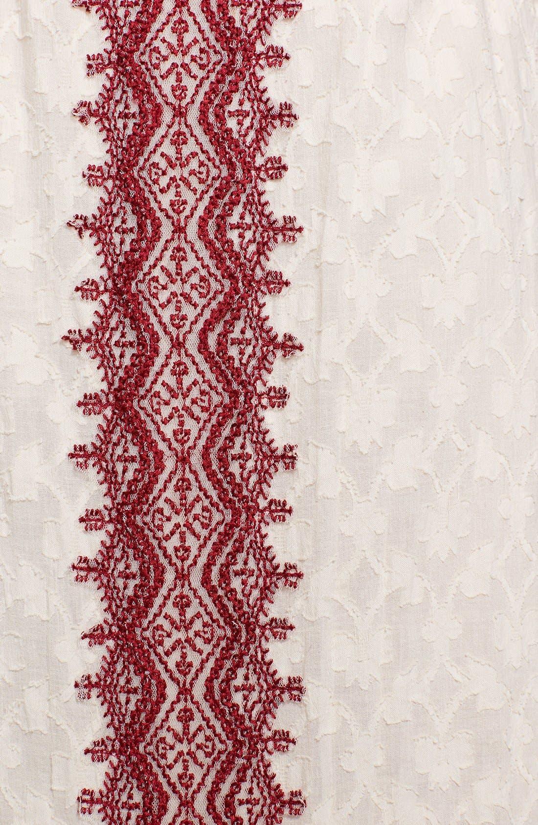 Alternate Image 3  - Free People 'Marrakesh' Lace Trim Jacquard Halter Maxi Dress